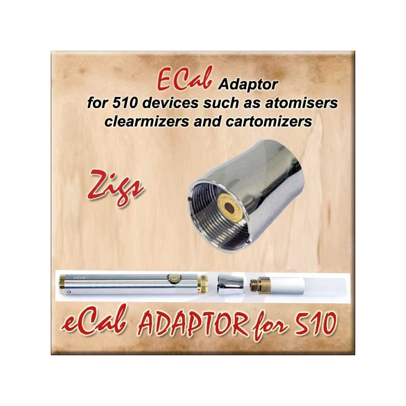 eCab Adaptor for 510 e cigarette atomisers or clearomizers