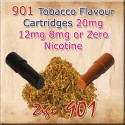 Tobacco Mk3 Nicotine Cartridges for 901 Ecig