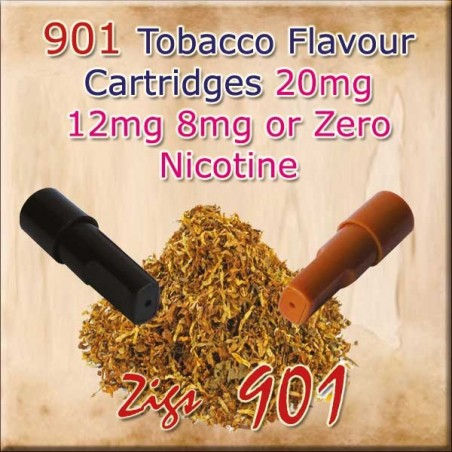 Tobacco Nicotine Cartridges for 901 Ecig