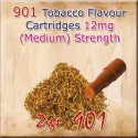 Medium Tobacco Mk3 Nicotine Cartridges for 901 Ecig Colour Brown