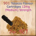 Medium Tobacco Mk3 Nicotine Cartridges for 901 Ecig Colour Black