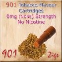 Zero Tobacco Mk3 Nicotine Cartridges for 901 Ecig Colour Brown