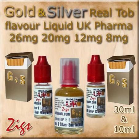 GOLD & SILVER Tobacco Flavour E Liquid