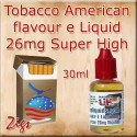 AMERICAN Tobacco Flavour E Liquid 26mg Nicotine 30ml bottle