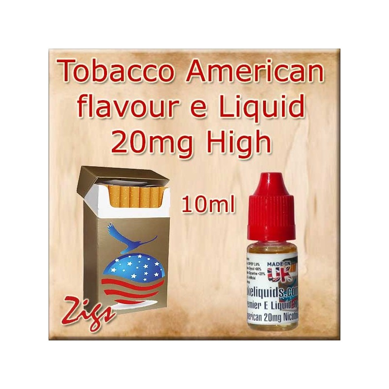 AMERICAN Tobacco Flavour E Liquid 20mg Nicotine 10ml bottle
