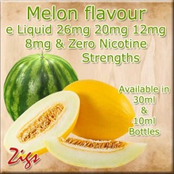 MELON Flavour E Liquid made in the UK in all strengths and two sizes of bottles