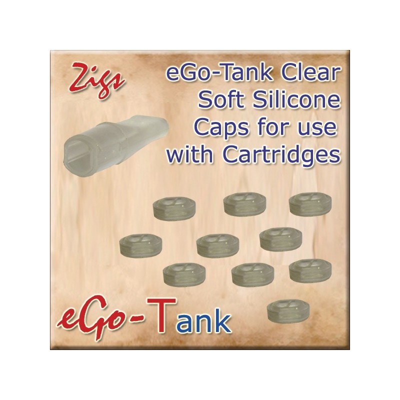 Ego-T Tank Clear Cartridge soft CAPS Box of 10 to be used with eGo tanks