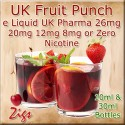 FRUIT PUNCH Flavour E Liquid 26mg 20mg 12mg 8mg & zero nicotine 30ml & 10ml bottles