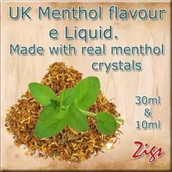 Menthol Flavour E Liquid 26mg 20mg 12mg 8mg zero nicotine 30ml & 10ml bottles