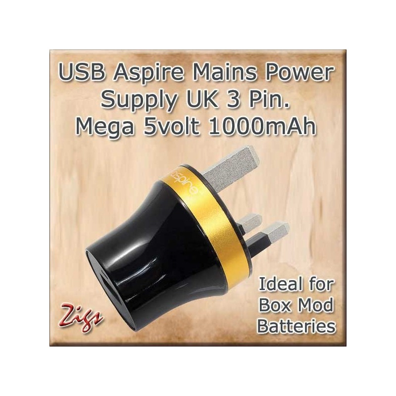 USB Mains Power Supply 1000ma for fast charging of your Batteries