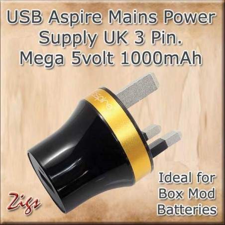 USB MAINS POWER SUPPLY 1000ma