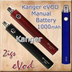 Evod Kanger longer lasting 1000mAh e Cigarette Battery