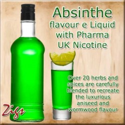 ABSINTHE E Liquid - Over 20 herbs and spices are carefully blended to recreate the luxurious aniseed and wormwood flavour.
