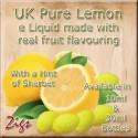 PURE LEMON E Liquid - pure lemon new e liquid tastes of tangy lemon and softened a little with a hint of sherbet.