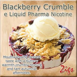 BLACKBERRY CRUMBLE E Liquid - Mouthwatering dessert taste with a buttery warmth, crumbly texture and tart autumnal afternotes.