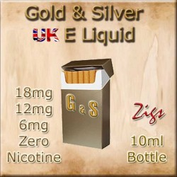GOLD & SILVER TOBACCO E Liquid 18mg 12mg 6mg Nicotine strengths