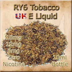 RY6 TOBACCO E Liquid in 18mg 12mg and 6mg Nicotine
