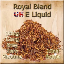 ROYAL BLEND TOBACCO E Liquid in 18mg 12mg and 6mg nicotine