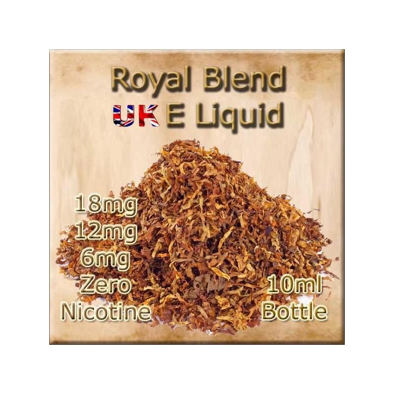 ROYAL BLEND TOBACCO E Liquid in 18mg 12mg and 6mg nicotine