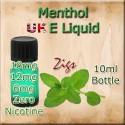 MENTHOL E Liquid in 18mg 12mg and 6mg nicotine
