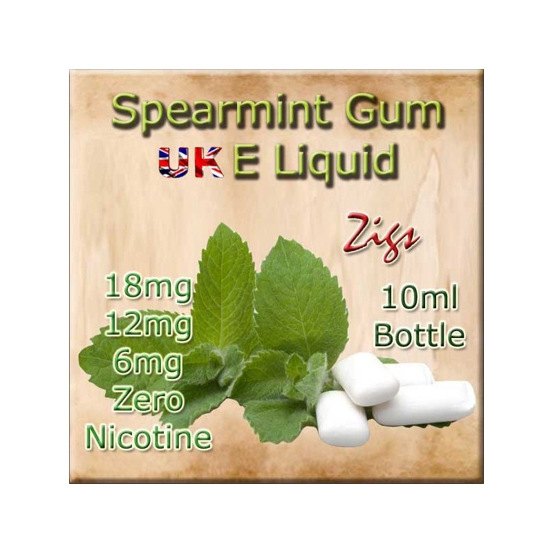SPEARMINT GUM E Liquid in 18mg 12mg and 6mg nicotine