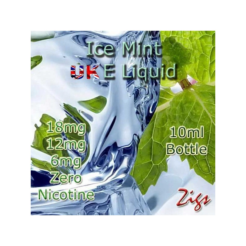 ICE MINT E Liquid 18mg 12mg 6mg strengths of nicotine