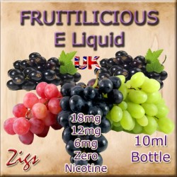 FRUITILICIOUS Grape and blackcurrant full fruit flavoured E Liquid