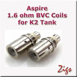 ASPIRE BVC Coil 1.6ohm  Organic Cotton wadding for great vapour