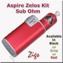 Zelos 50 watt sub ohm kit. Curvy top fill tank and very latest battery technology