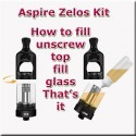 Zelos 50 watt kit. How to fill the tank - just unscrew top, fill the glass and refit the top. Just so easy