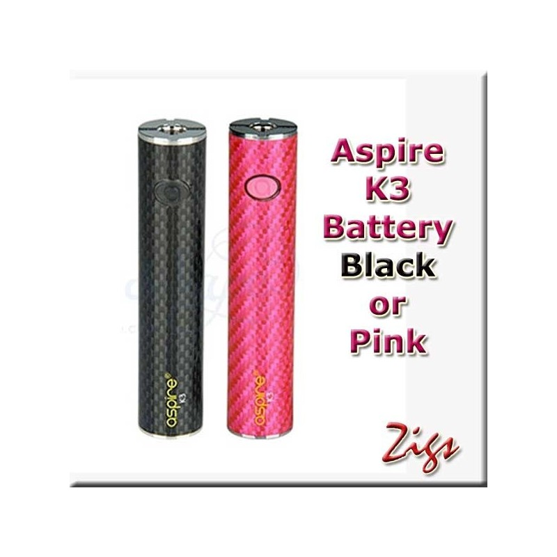 ASPIRE K2 BATTERIES available in pink or black