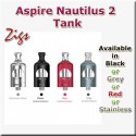 Aspire Nautilus 2 Tank in four colours