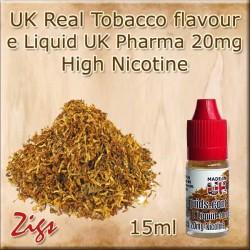 Tobacco Flavour E Liquids 26mg 20 mg 12mg 8mg Zero Nicotine in 30ml & 10ml Sizes